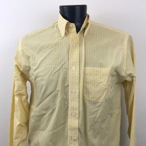 Brooks Brothers Yellow Plaid Shirt